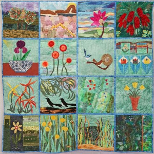 AQA group quilt  SPRING IS HERE