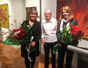 Kaye Hardman, President AQA, Janet Kidson AQIPP 2015 Convenor, Jacquie Nichols Reeves Curator of Whitehorse Artspace