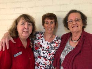 Gift Quilt Program Coordinators - Jan MacFadyen, Faye Burville and Faye Eaton